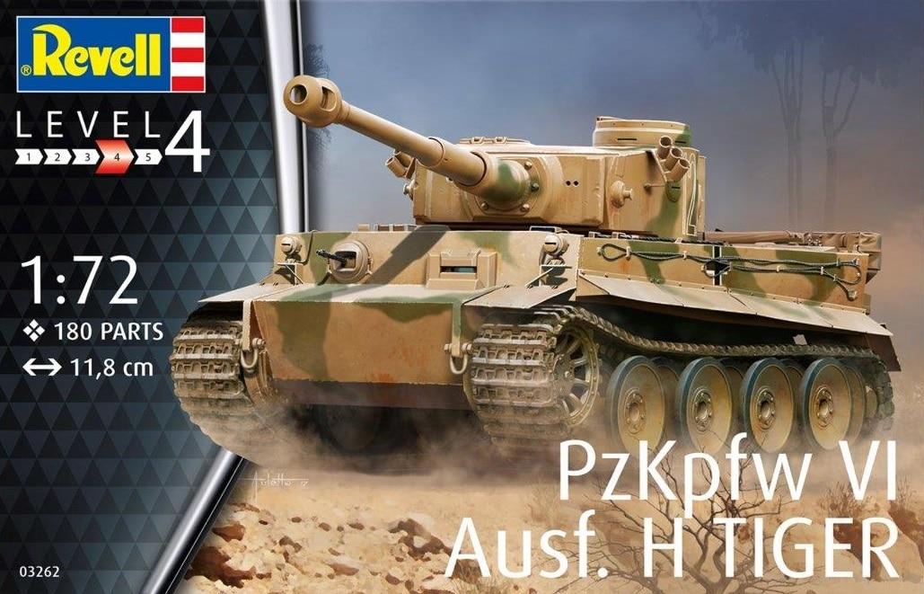 Tiger Pz Kpfw Vi Ausf H - Revell 03262 - 1  72